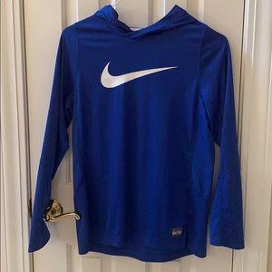 Boys Nike blue dry fit hoodie xl